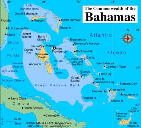 map of us showing bahamas bahamas carte