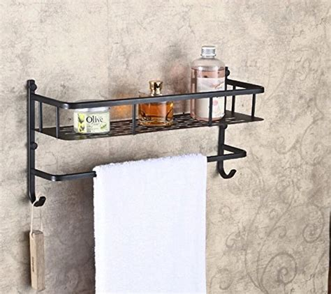 Rozin Bathroom Wall Mounted Storage Shelf Oil Rubbed Rubbed Bronze Bathroom Shelves