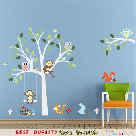 wallpaper craft animals aliexpress com buy cute jungle animals wall sticker kids