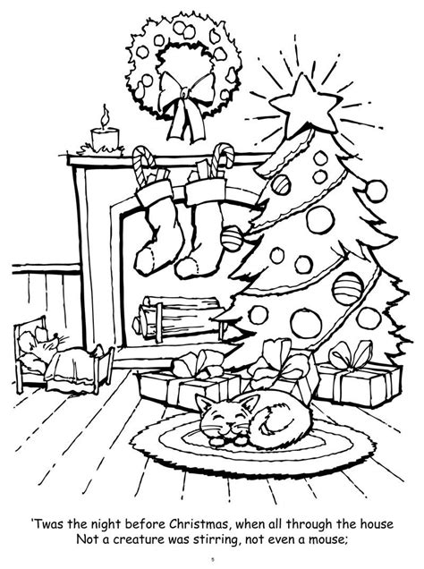 Night Before Christmas Coloring Pages Free Coloring Pages Before Coloring Pages