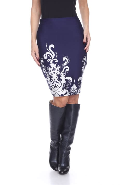white knee length pencil skirt clothing shoes