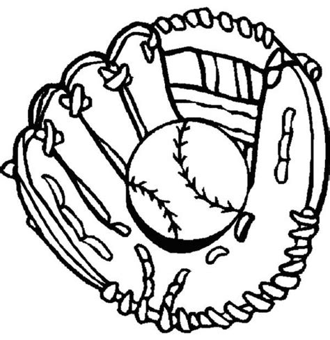 free baseball mitt coloring pages