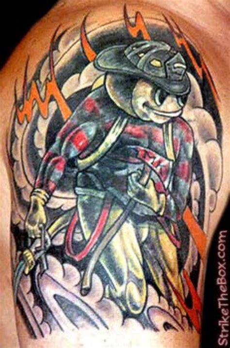 buckeye tattoo designs brutus buckeye fireman all things of the ohio