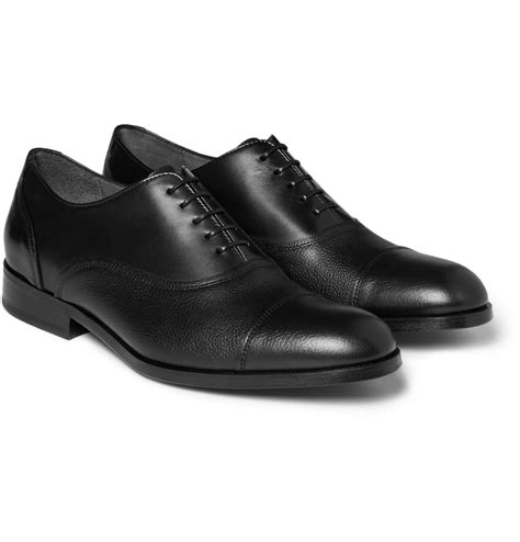 lanvin oxford shoes lyst lanvin leather oxford shoes in black for