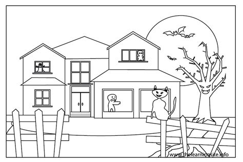free house outline images coloring pages