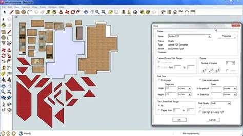 sketchup layout scale image sketchup house step 9 printing to scale youtube