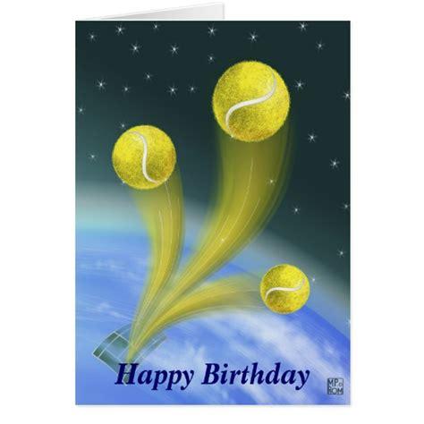 Tennis Birthday Cards Tennis Victory Happy Birthday Personalized Card Zazzle