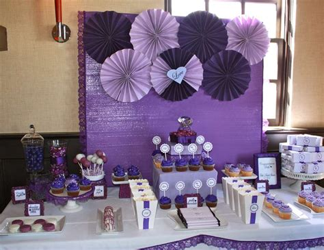 Table Set Decoration 15 Bridal Shower Birthday Baby Shower bridal wedding shower quot purple bridal shower quot catch my
