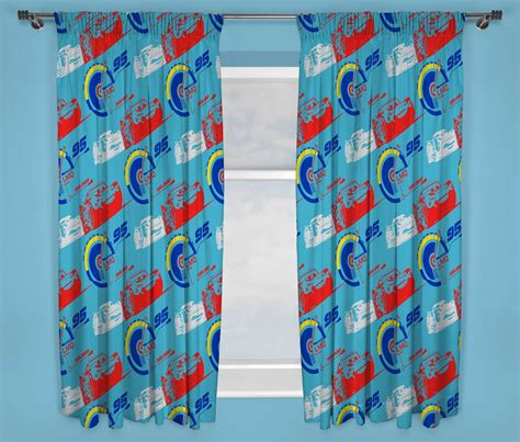 tende walt disney disney cars 3 lightning mcqueen curtains 66 x 54 inch