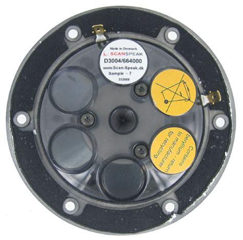 Scanspeak Beryllium Dome Tweeter D3004 604010 scanspeak illuminator d3004 6640 00 1 quot tweeter beryllium dome
