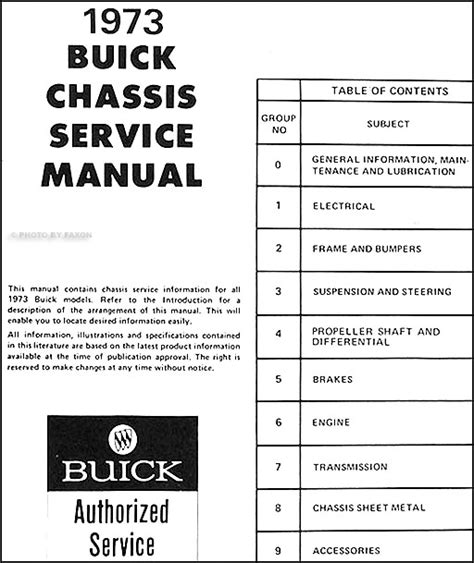 car repair manual download 1989 buick reatta spare parts catalogs 1973 buick repair shop manual original all models