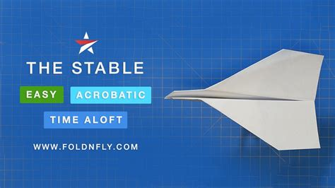 How To Make A Paper Airplane That Flips - the stable paper airplane that flies far and does flips
