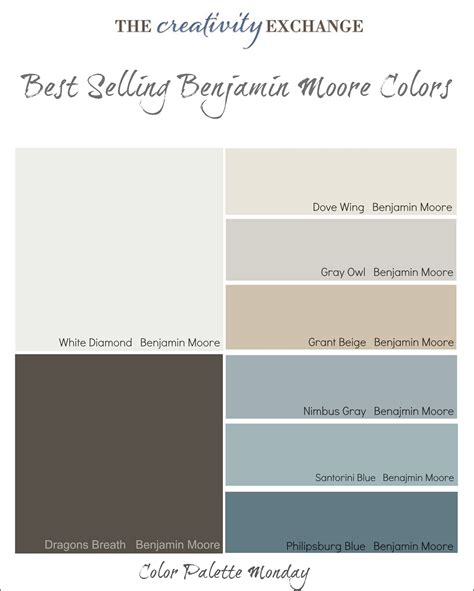 best selling benjamin paint colors color palette monday car interior design