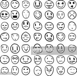 doodle 4 registration doodle faces design element set vector getty images
