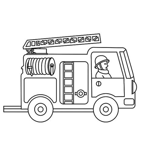 Printable Fire Truck Coloring Pages Coloring Me Firetruck Color Page