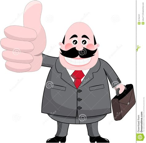 bid up smiling businessman with big thumb up royalty free stock