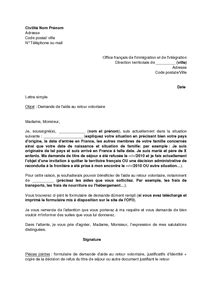 Lettre De Motivation Visa De Retour letter of application lettre explicative renouvellement