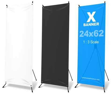 X Frame Banner Mockup 24 215 62 Cover Actions Premium Mockup Psd Template Vinyl Banner Template Photoshop