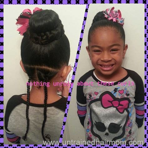 cornrows with doughnut wivon at top 5 quick cute hairstyles