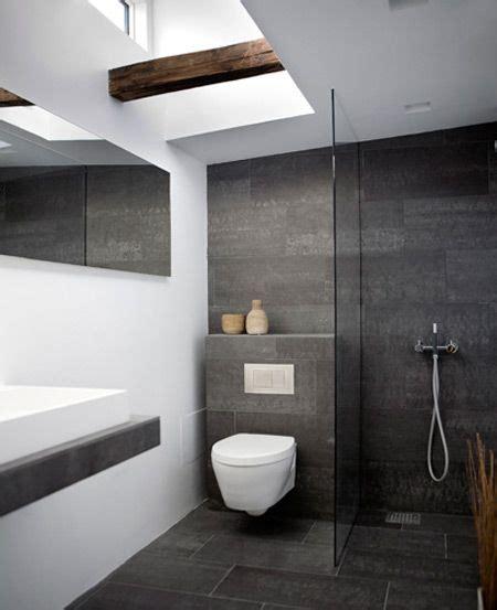 Badezimmer Modern Dunkel by Schwarz Wei 223 Es Bad Dunkle Fliesen Modernes Badezimmer