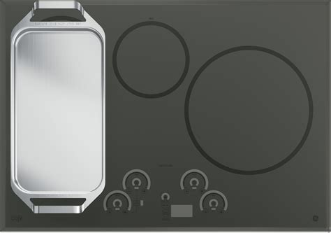 Induction Cooktop Griddle ge chp9536sjss 36 quot induction cooktop with 5 cooking zones syncburners griddle blue touch