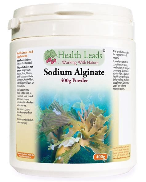 Sodium Alginate Detox by Sodium Alginate Food Grade 400g Health Leads Uk