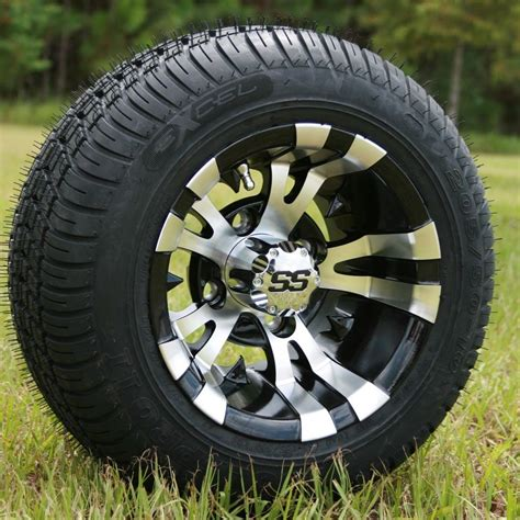 golf cart  vampire silverblack wheels