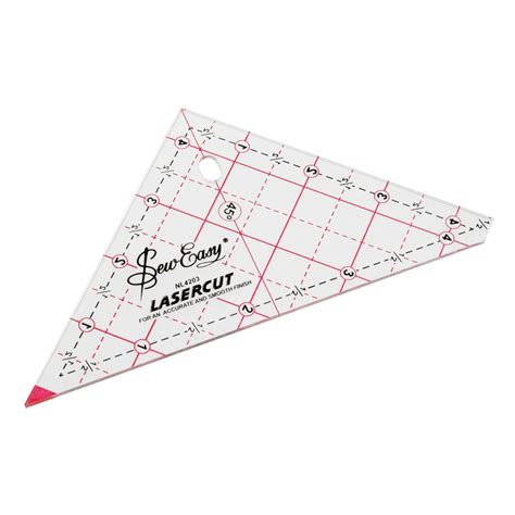 Patchwork Rulers - patchwork ruler triangle 12 5 deany fabrics