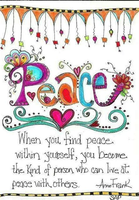 printable peace quotes finding peace within yourself hippie things more a