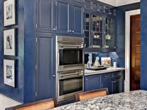 navy blue kitchen cabinets 30 colorful kitchen design ideas from hgtv kitchen ideas