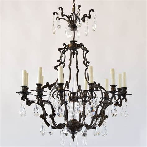 Chandelier Atlanta Italian Rococo Bronze Chandelier With The Big Chandelier