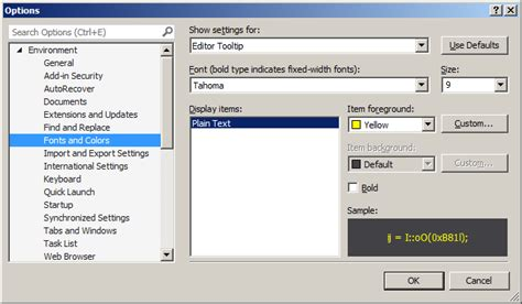 reset visual studio ide settings ide how to change the background or foreground color of