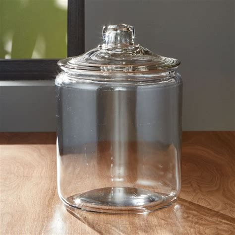 glass jars heritage hill 128 oz glass jar with lid reviews crate and barrel