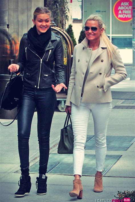 yolanda foster puffy jacket yolanda foster and her daughter gigi out and about soho