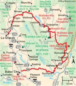 oregon scenic byways map oregon map