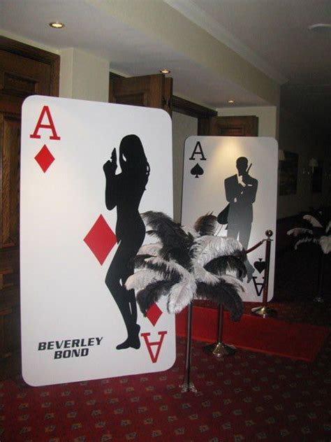 card themed decorations casino prop big cutout cards could be cool props to hide