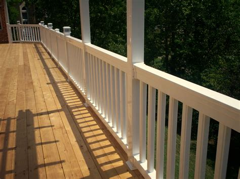 decking banister bidirectional deck stairs st louis decks screened