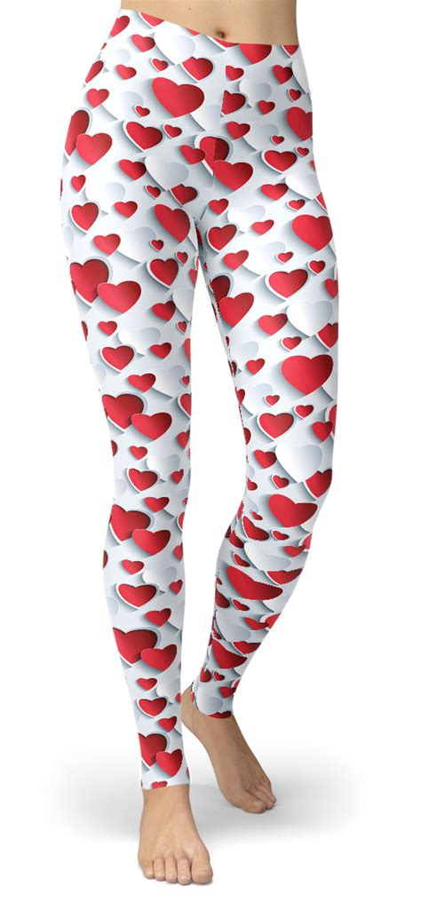 heart pattern leggings heart pattern leggings designed by squeaky chimp tshirts