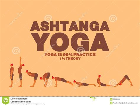 Ashtanga Yoga Plakat ashtanga yoga poster stock vector illustration of step