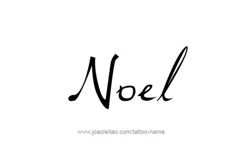 noel name tattoo designs