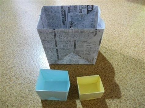 Big Origami Box - how to make a big box origami i use