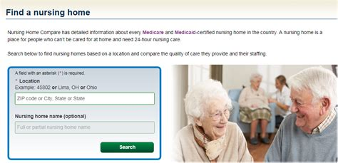 medicare gov nursing home compare help