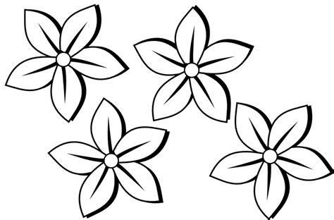flowers clip art black and white free many flowers