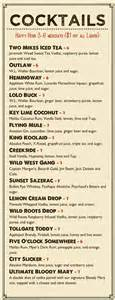 cocktail menu checkout our new signature drinks tollgate inn