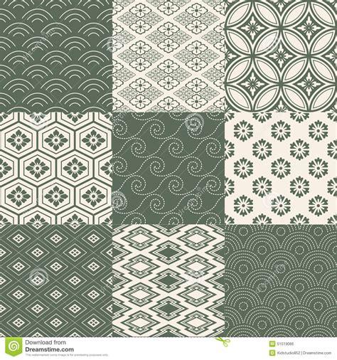 geometric pattern japanese seamless japanese pattern set stock vector image 51519066