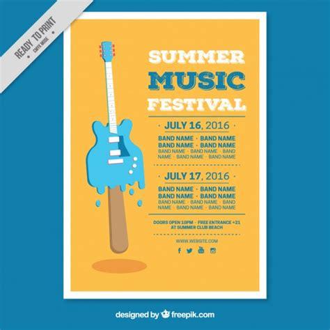 Kostenlose Vorlage Flyer Kreative Sommerfest Flyer Vorlage Der Kostenlosen Vektor