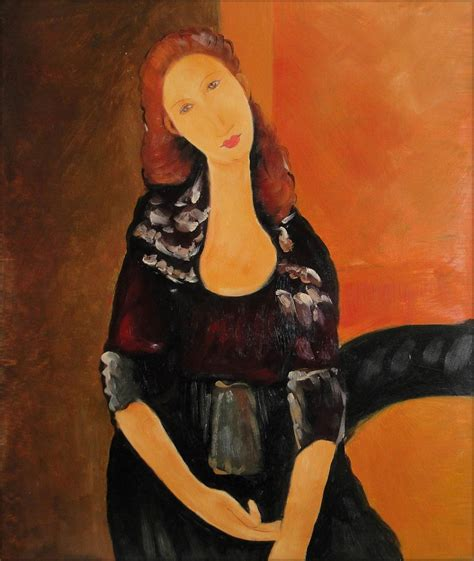 Paints Import Shes 002 framed modigliani portrait of jeanne repro painted painting 20x24in ebay