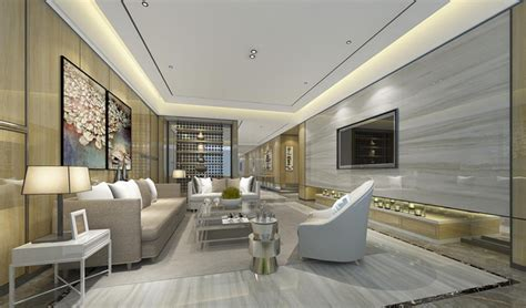 Marble Living Room by Luxury Rooms Concept Design