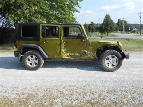 Wrecked Jeeps For Sale Buy Used 2008 Jeep Wrangler Rubicon 4x4 4 Door Salvage