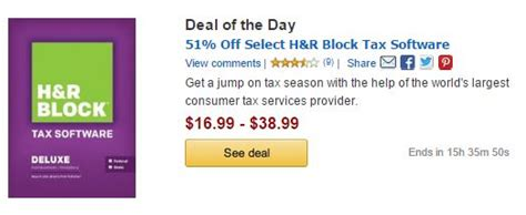Save up to 51% on H&R Block Tax Software! Today Only! H And R Block 2015 Tax Software Deals